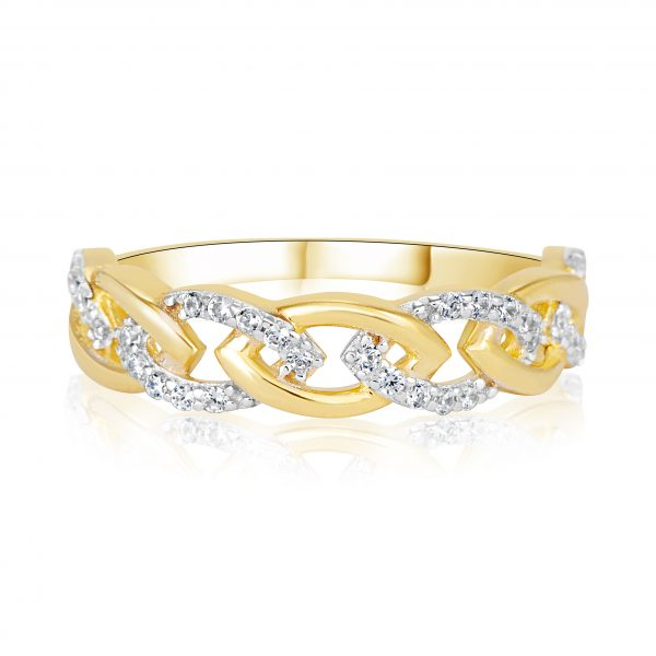 טבעת אירוסין זהב צהוב מיוחדת קלאסית עם טוויסט Neomi נעמי