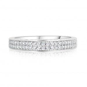 טבעת אירוסין עם יהלומים בשורה קלואי Chloe