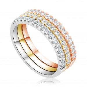 טבעת אירוסין שורת יהלומים Samantha סמנתה