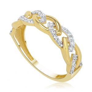 טבעת אירוסין זהב צהוב מיוחדת Neomi נעמי