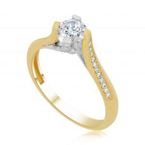 טבעת אירוסין סוליטר זהב צהוב Grace גרייס