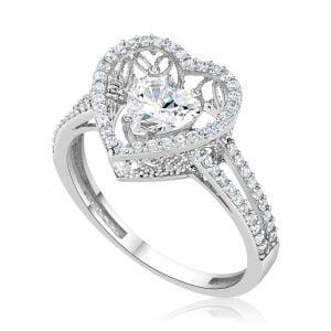 טבעת אירוסין יוקרתית זהב לבן מעוצבת Zehava זהבה