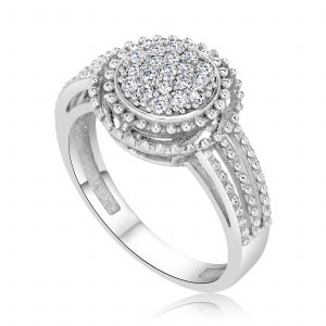 טבעת אירוסין זהב לבן עדינה וקלאסית Emma אמה