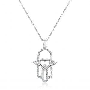 שרשרת יהלומים / תליון עם יהלום Hamsa חמסה
