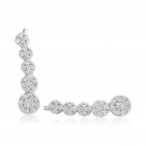 עגילי יהלום צמודים לאוזן Zara זארה