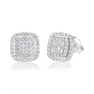 עגילי יהלומים צמודים לאוזן Martha מרתה