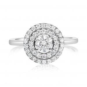טבעת אירוסין יוקרתית זהב לבן מעוצבת Anya אניה