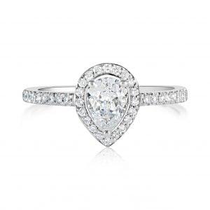 טבעת אירוסין מעוצבת זהב לבן Monica מוניקה
