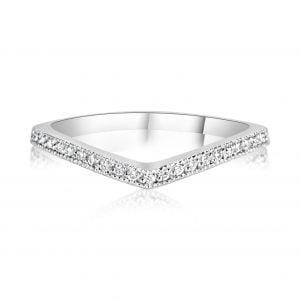 טבעת אירוסין עם יהלומים בשורה Melanie מלני