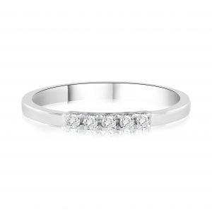 טבעת יהלומים שורה Ariel אריאל