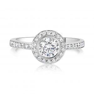 טבעת אירוסין יהלומים זהב לבן Alyssa אליסה