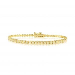 צמיד טניס יהלומים זהב צהוב Elionr אלינור
