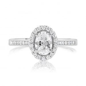 טבעת אירוסין יהלומים מעוצבת זהב לבן Thalia טליה