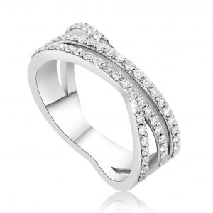 טבעת אירוסין זהב לבן עדינה וקלאסית Julieta ג'וליאטה