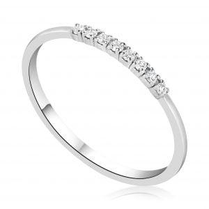 טבעת יהלומים שורה Ruby רובי
