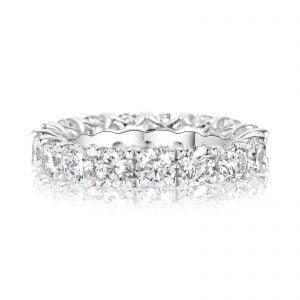 טבעת אירוסין מעוצבת יוקרתית עם שורת יהלומים זהב לבן Johanna ג'ואנה