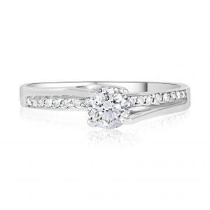 טבעת אירוסין סוליטר מעוצבת זהב לבן Mariana מריאנה