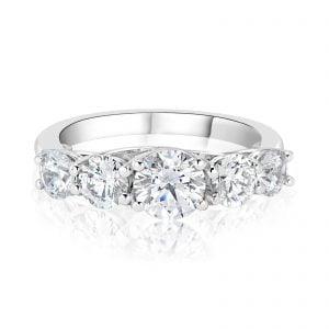 טבעת אירוסין michal  מיכל 5 יהלומים