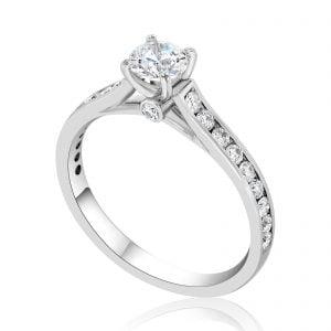 טבעת אירוסין יהלומים זהב לבן יוקרתית jade ג'ייד