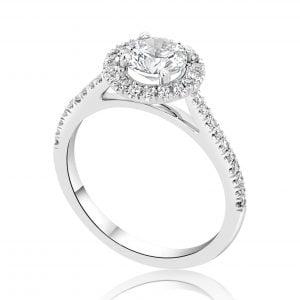 טבעת אירוסין יהלומים זהב לבן יוקרתית Valentina – ולנטינה