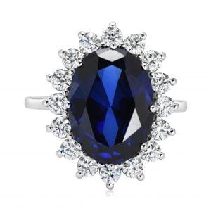 טבעת אירוסין יהלומים זהב לבן יוקרתית diana דיאנה