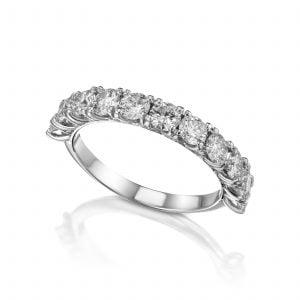 טבעת אירוסין זהב לבן יוקרתית מעוצבת goldi גולדי