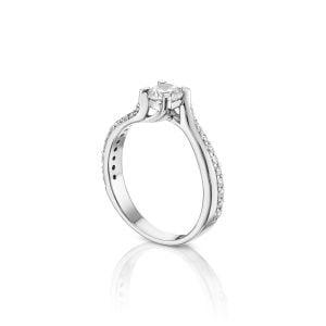 טבעת אירוסין יהלומים מעוצבת ויוקרתית Moriah