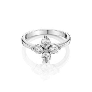טבעת אירוסין זהב לבן מיוחדת ויוקרתית Reagan