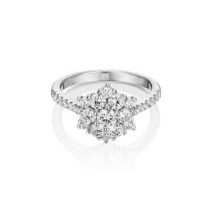 טבעת אירוסין מיוחדת ויוקרתית זהב לבן Yovel