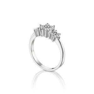 טבעת אירוסין זהב לבן מיוחדת ויוקרתית Valerie