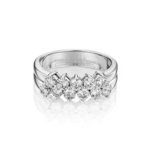 טבעת אירוסין מעוצבת זהב לבן קלאסית Clara