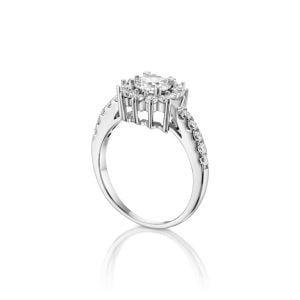 טבעת אירוסין זהב לבן מעוצבת יוקרתית Osnat