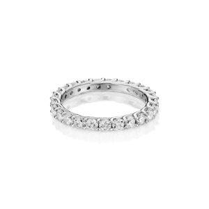 טבעת אירוסין עדינה וקלאסית זהב לבן Melody
