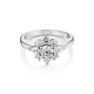 טבעת אירוסין יהלום זהב לבן מיוחדת ויוקרתית Lauren