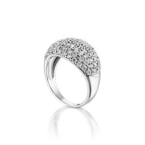 טבעת אירוסין זהב לבן יוקרתית קלאסית Liliana