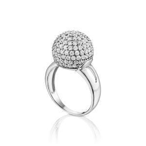 טבעת אירוסין מיוחדת זהב לבן יוקרתית Eliana