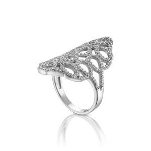 טבעת אירוסין יוקרתית ומיוחדת זהב לבן Miriam