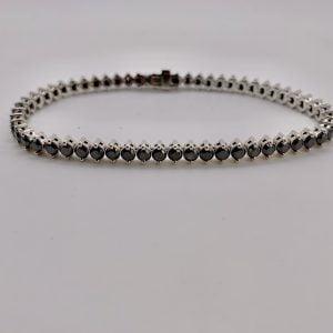 צמיד טניס יהלומים שחורים 6.50 קרט צמיד מושלם