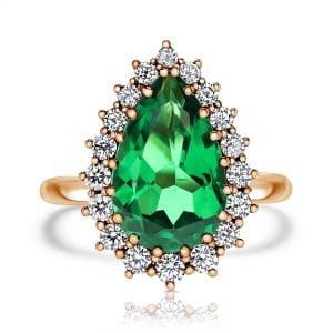 טבעת יהלומים עם אבן חן מעוצבת יוקרתית Madison מדיסון