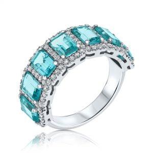 טבעת יהלומים ואבני חן יערה yaara