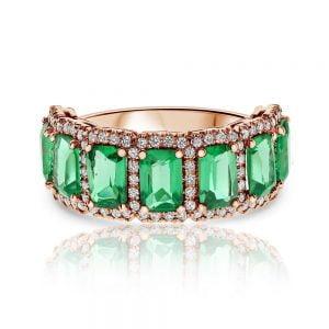 טבעת יהלומים ואבני חן Audrey אודרי