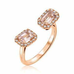 טבעת יהלומים ואבני חן מורגנייט Savannah סאוונה