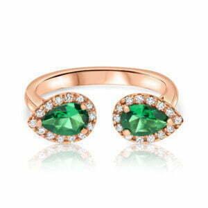 טבעת יהלומים ואבני חן טיפות Brooklyn ברוקלין